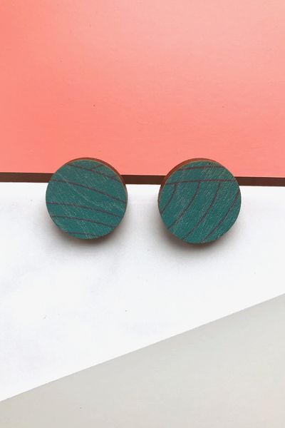 Korvikset - Willow dot, jade green